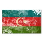 Azerbaijan Flag Sticker (Rectangle 50 pk)