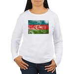 Azerbaijan Flag Women's Long Sleeve T-Shirt