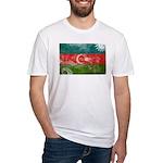 Azerbaijan Flag Fitted T-Shirt