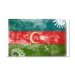 Azerbaijan Flag Car Magnet 20 x 12