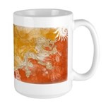 Bhutan Flag Large Mug