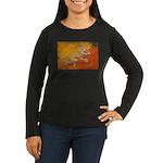 Bhutan Flag Women's Long Sleeve Dark T-Shirt