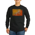 Bhutan Flag Long Sleeve Dark T-Shirt