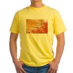 Bhutan Flag Yellow T-Shirt