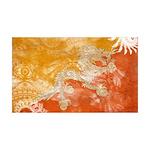 Bhutan Flag 38.5 x 24.5 Wall Peel