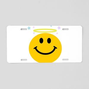 Angel Smiley Aluminum License Plate