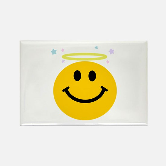 Angel Smiley Rectangle Magnet