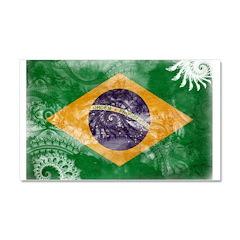 Brazil Flag Car Magnet 20 x 12