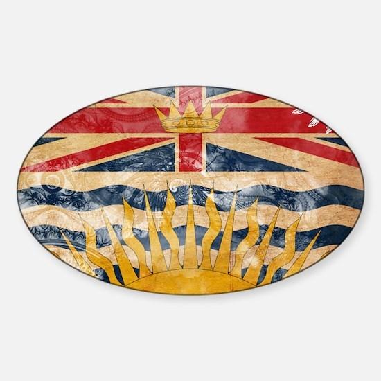 British Columbia Flag Sticker (Oval)