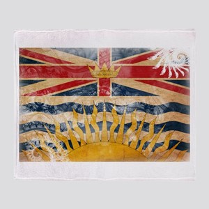 British Columbia Flag Throw Blanket