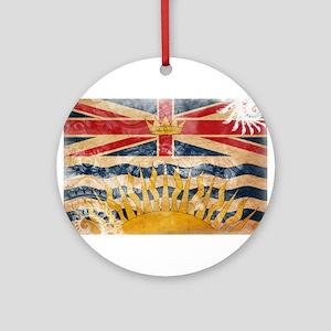 British Columbia Flag Ornament (Round)