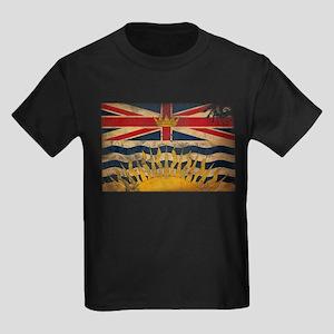 British Columbia Flag Kids Dark T-Shirt