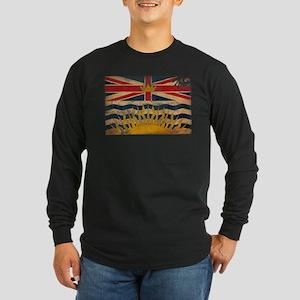 British Columbia Flag Long Sleeve Dark T-Shirt