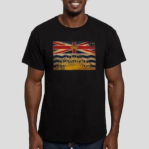British Columbia Flag Men's Fitted T-Shirt (dark)