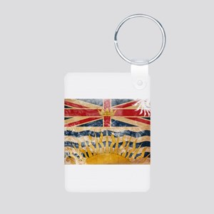 British Columbia Flag Aluminum Photo Keychain