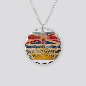 British Columbia Flag Necklace Circle Charm