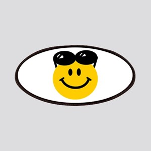 Perched Sunglasses Smiley Patches