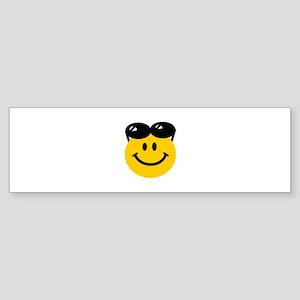 Perched Sunglasses Smiley Sticker (Bumper)