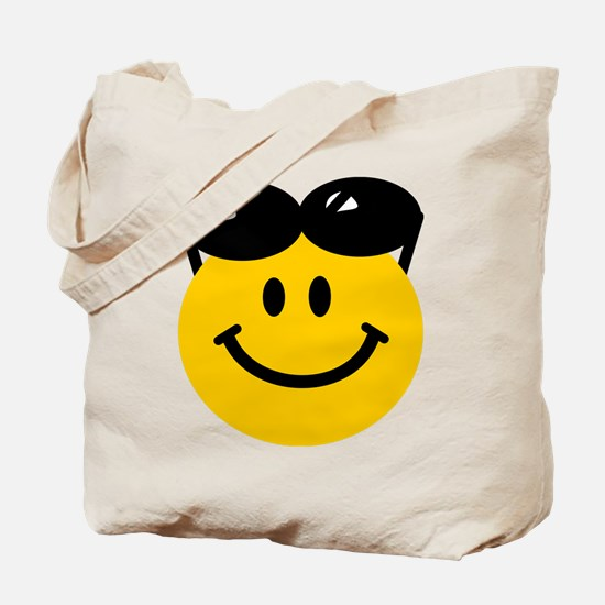 Perched Sunglasses Smiley Tote Bag