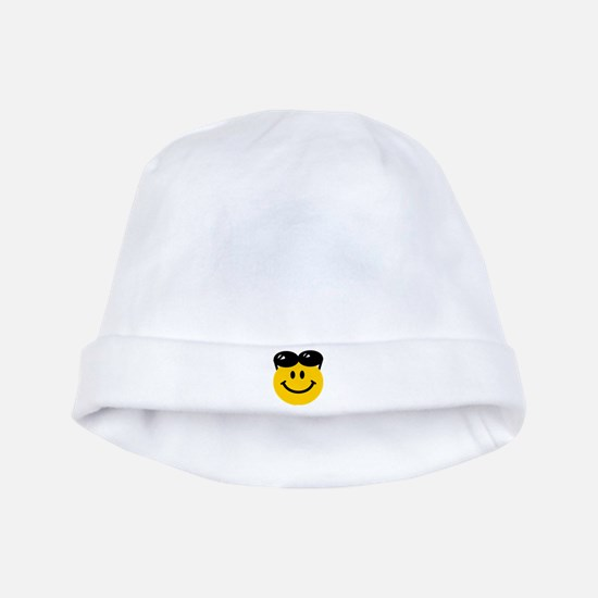 Perched Sunglasses Smiley baby hat