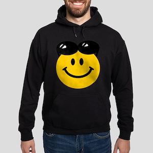 Perched Sunglasses Smiley Hoodie (dark)