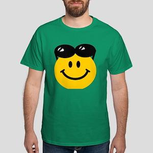 Perched Sunglasses Smiley Dark T-Shirt