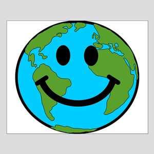 Smiling Earth Smiley Small Poster