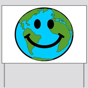 Smiling Earth Smiley Yard Sign