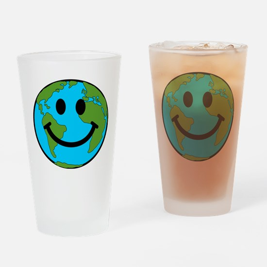 Smiling Earth Smiley Drinking Glass