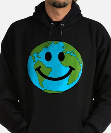 Smiling Earth Smiley Hoodie (dark)