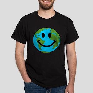 Smiling Earth Smiley Dark T-Shirt