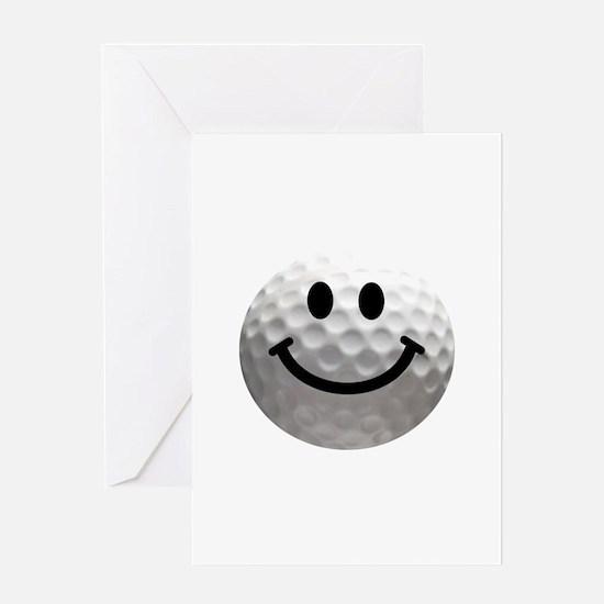Golf Ball Smiley Greeting Card