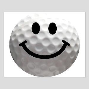Golf Ball Smiley Small Poster