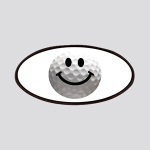 Golf Ball Smiley Patches