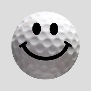 """Golf Ball Smiley 3.5"""" Button"""