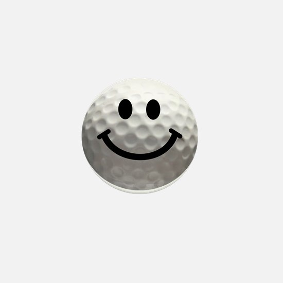 Golf Ball Smiley Mini Button (10 pack)