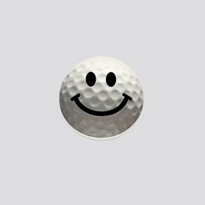 Golf Ball Smiley Mini Button