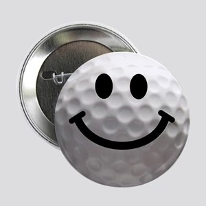 "Golf Ball Smiley 2.25"" Button"