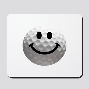 Golf Ball Smiley Mousepad