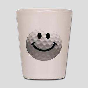 Golf Ball Smiley Shot Glass