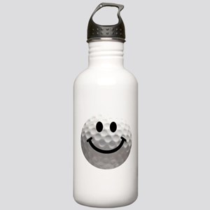 Golf Ball Smiley Stainless Water Bottle 1.0L