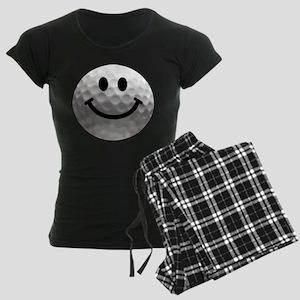 Golf Ball Smiley Women's Dark Pajamas