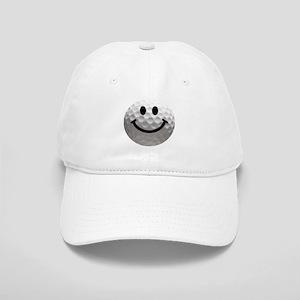 Golf Ball Smiley Cap