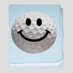 Golf Ball Smiley baby blanket
