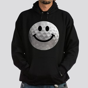 Golf Ball Smiley Hoodie (dark)