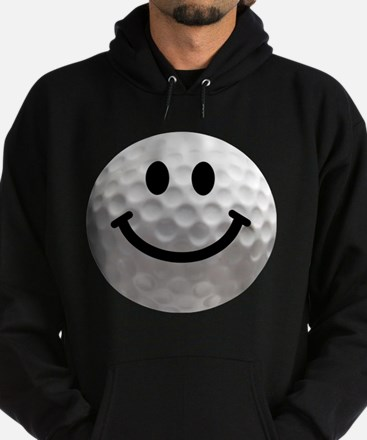 Golf Ball Smiley Hoodie (dark)