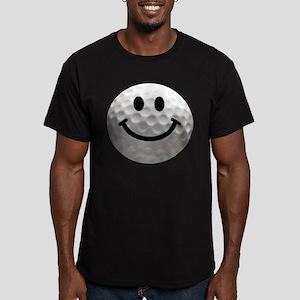 Golf Ball Smiley Men's Fitted T-Shirt (dark)