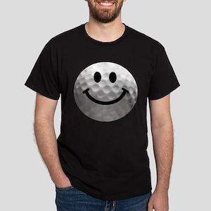 Golf Ball Smiley Dark T-Shirt