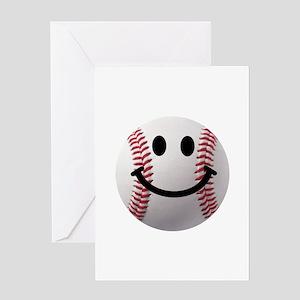 Baseball Smiley Greeting Card