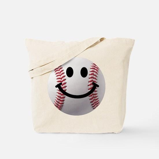 Baseball Smiley Tote Bag